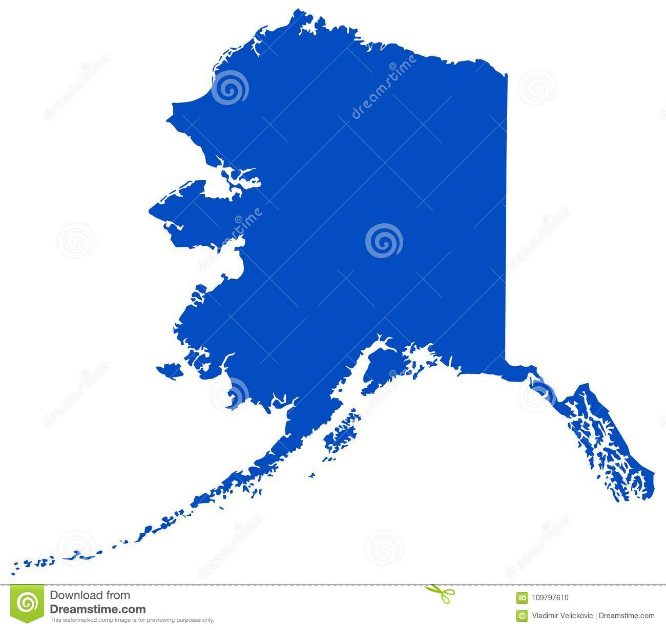 Alaska Map - State Of The United States Stock Vector ...