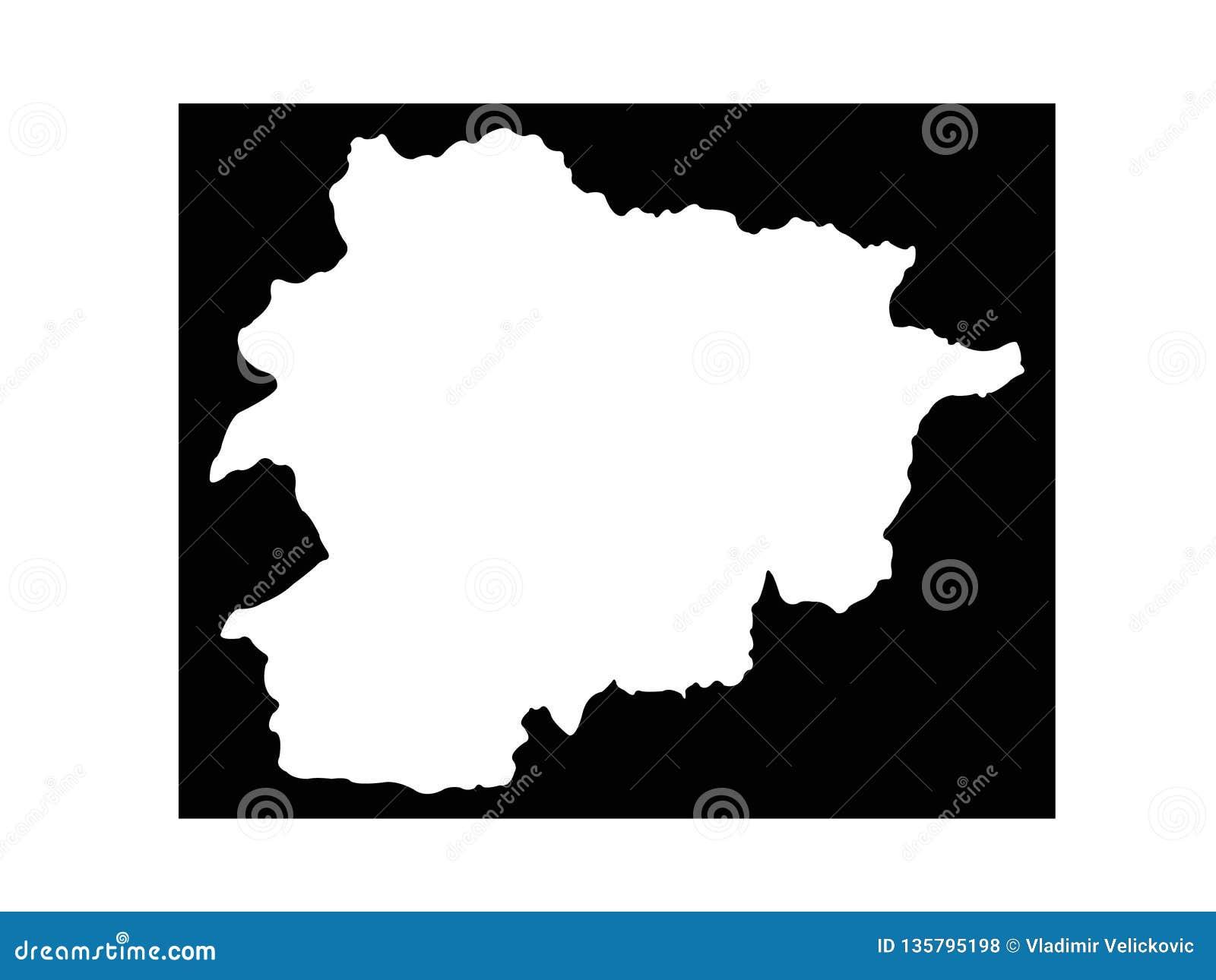 Andorra map - Principality of Andorra