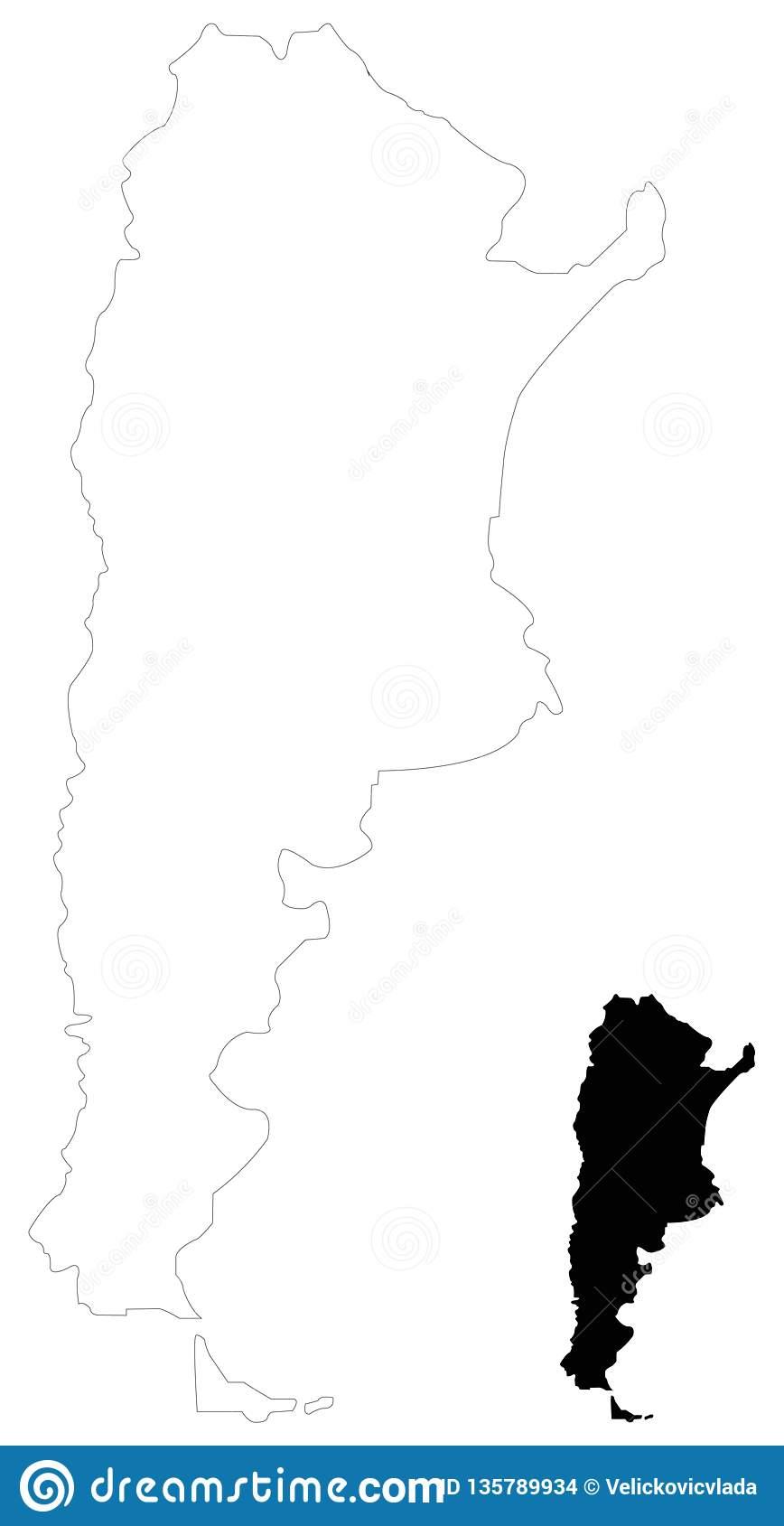 Argentina Map - Argentine Republic, Country In South America ... on