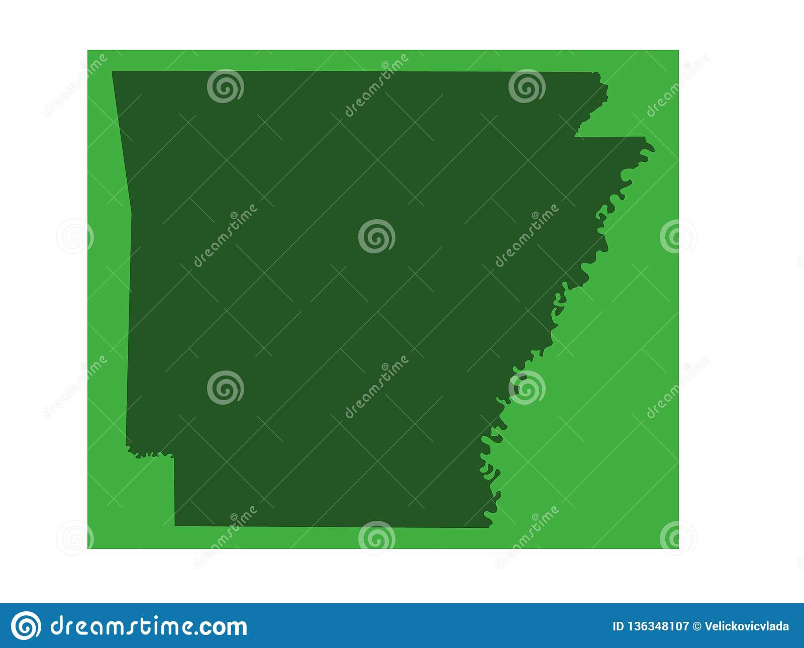 Arkansas Map - State In The Southern Region Of The United States ...