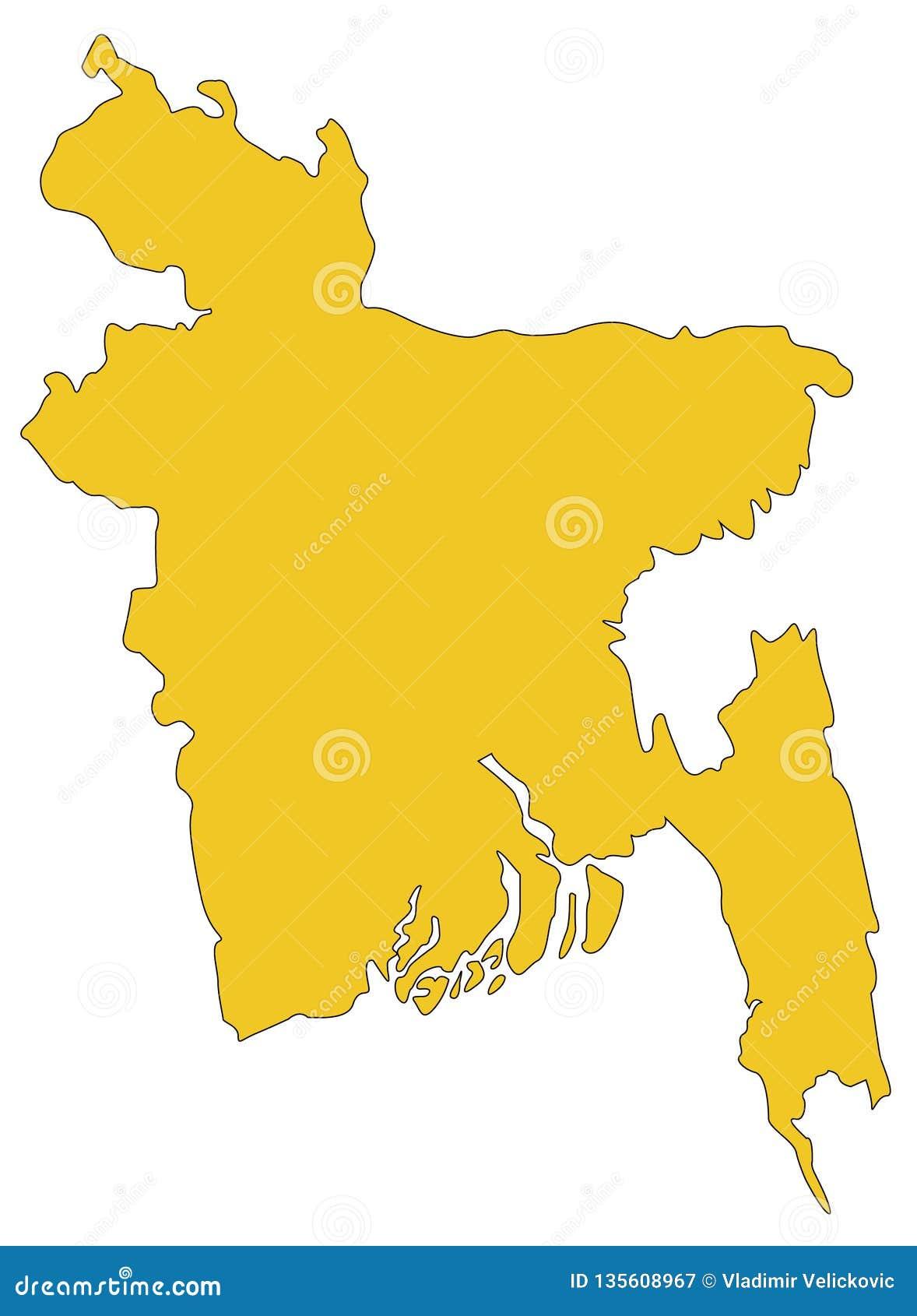 Bangladesh Map Republic Bangladesh Is A Country In