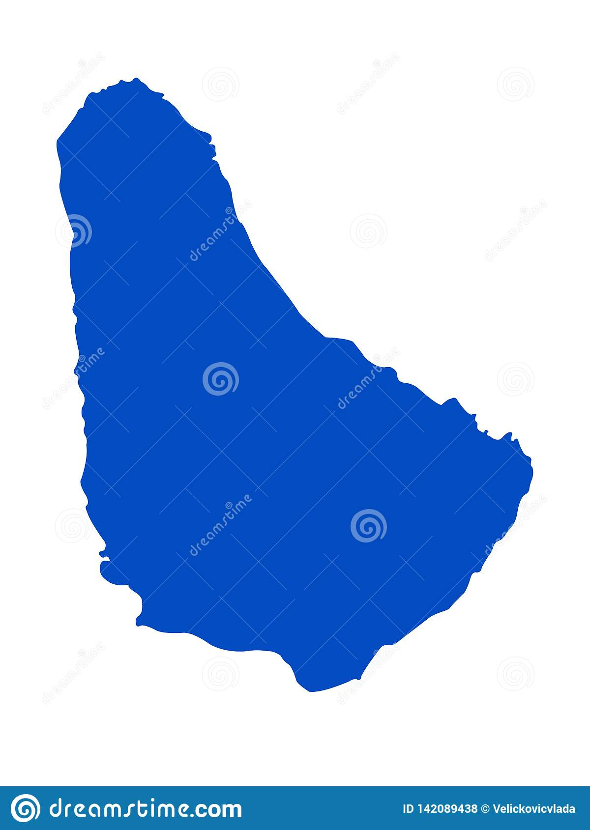 Picture of: Barbados Map Island Country In The Caribbean Region Of North America Stock Vector Illustration Of State North 142089438