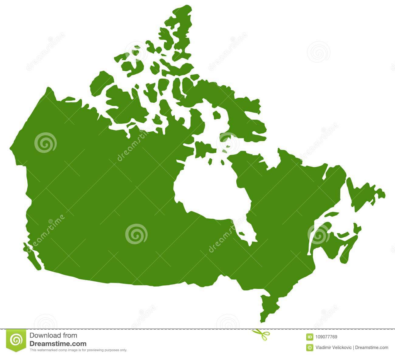 Canada Map - Country In North America Stock Vector ...