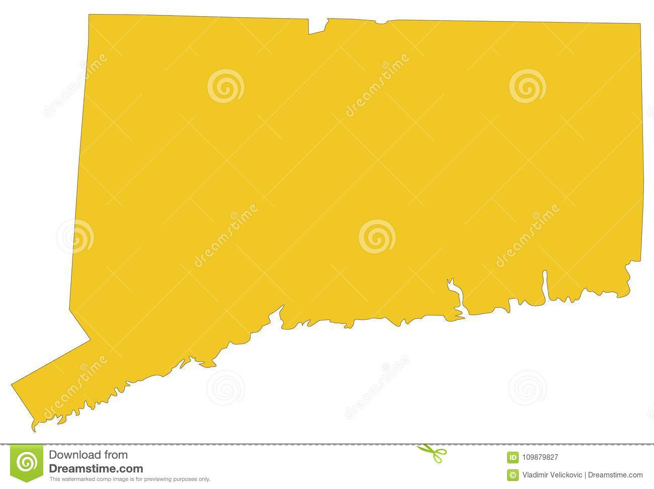 Connecticut Map - State Of The Northeastern United States ...
