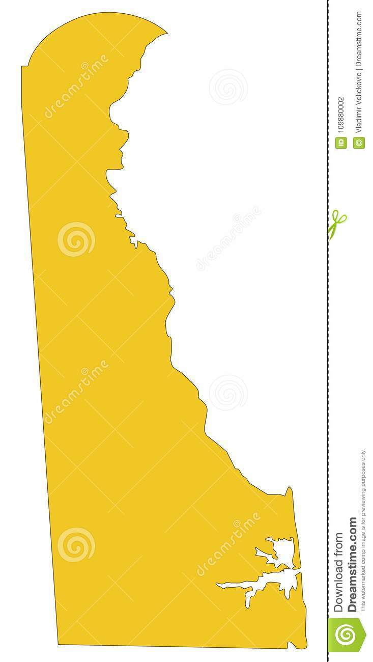 Delaware Map - Northeastern Region Of The United States Stock Vector ...
