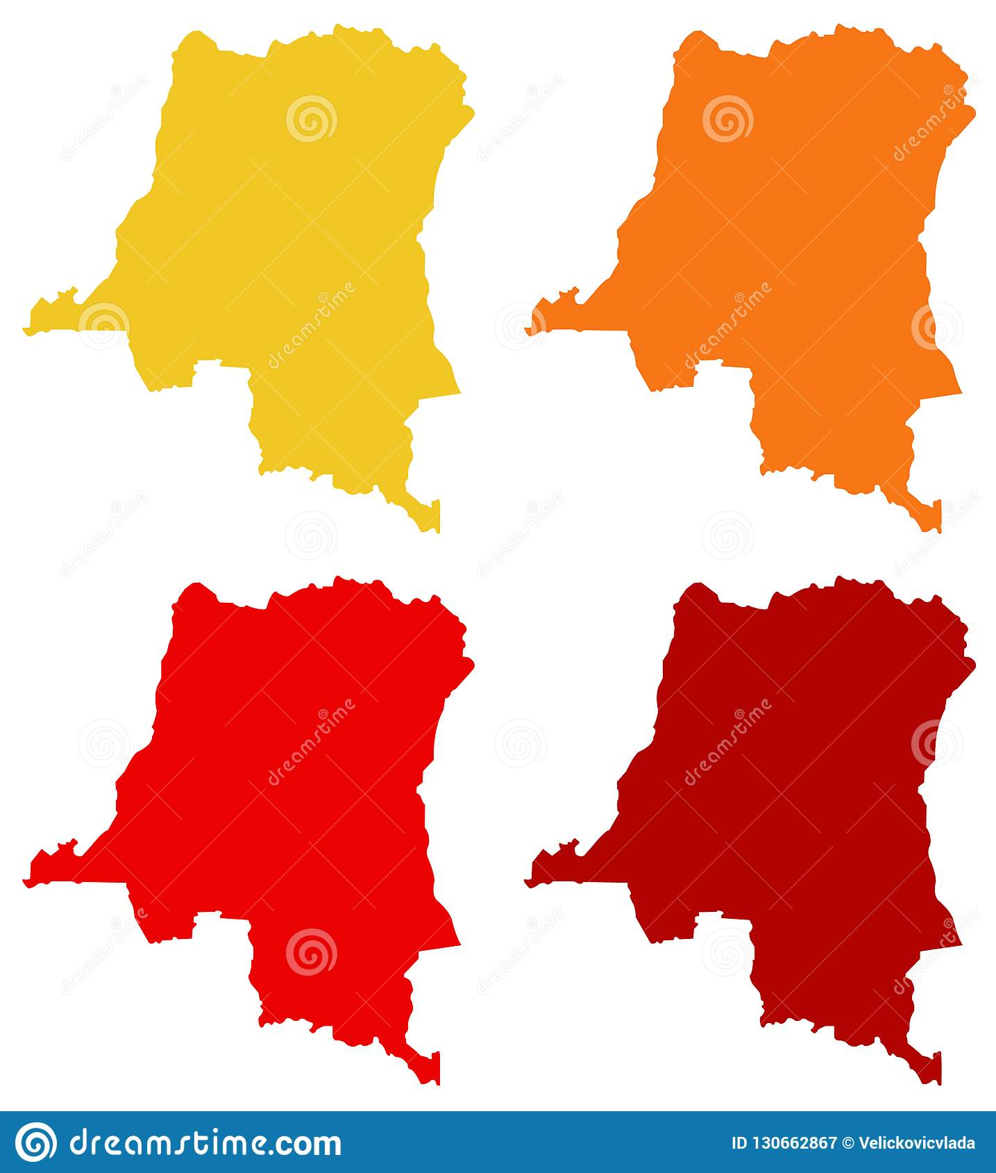 Congo On Africa Map.Democratic Republic Of The Congo Map Country In Central Africa