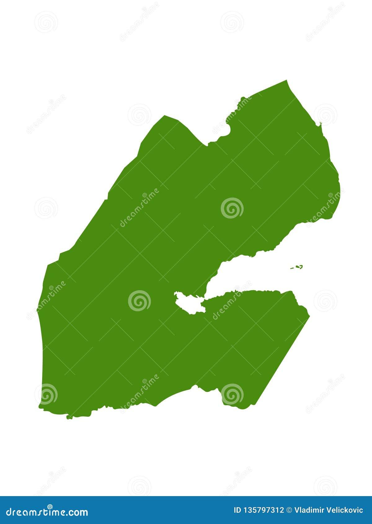 Djibouti Map - Republic Of Djibouti Stock Vector - Illustration of ...