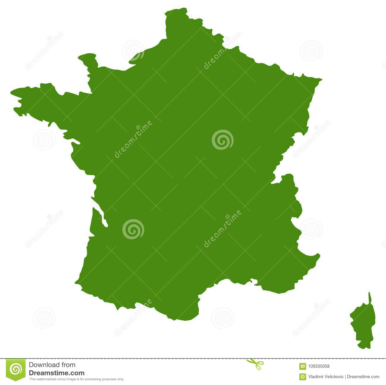 France Map Country In Western Europe Stock Vector Illustration