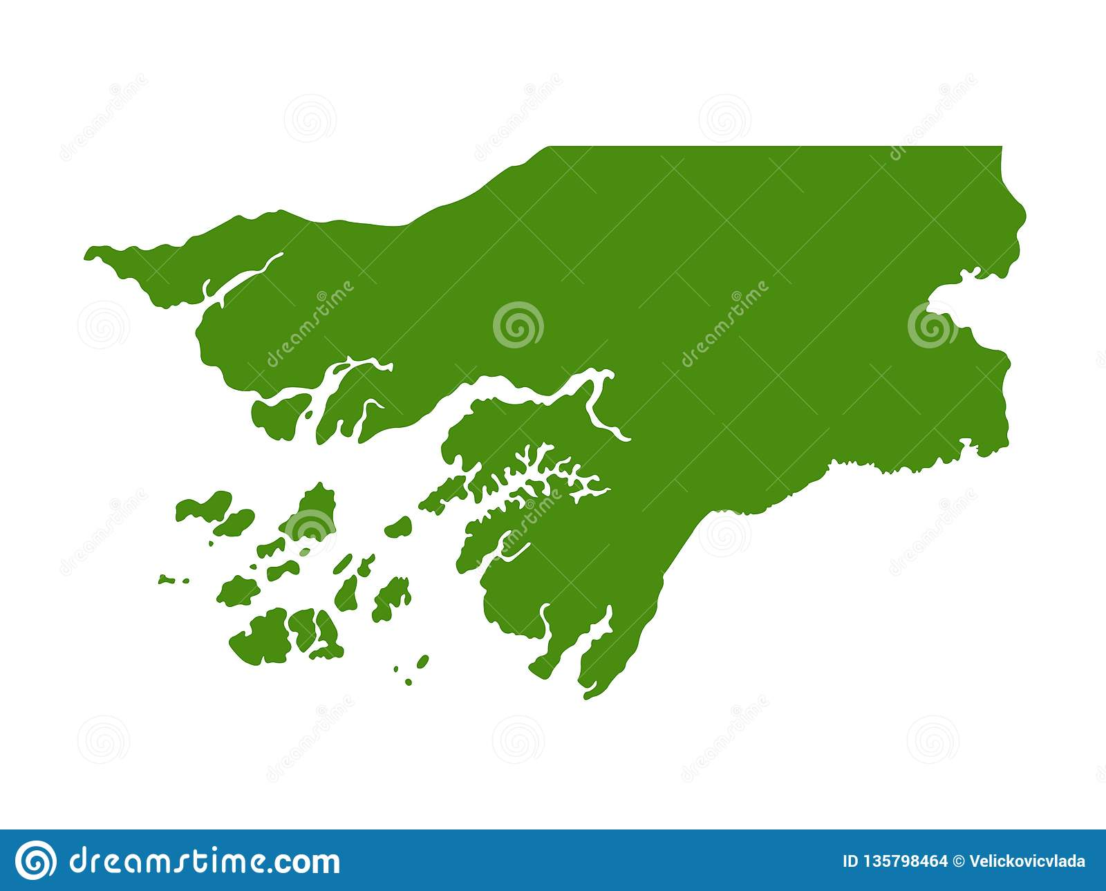 Gambia On Africa Map.Gambia Map Republic Of The Gambia Stock Vector Illustration Of