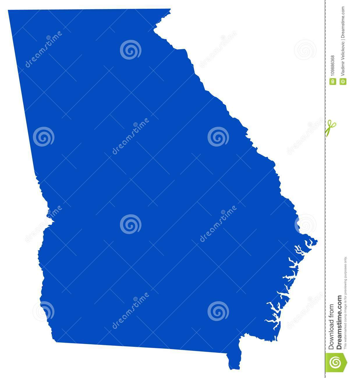 Georgia Map - State In The Southeastern United States Stock Vector ...