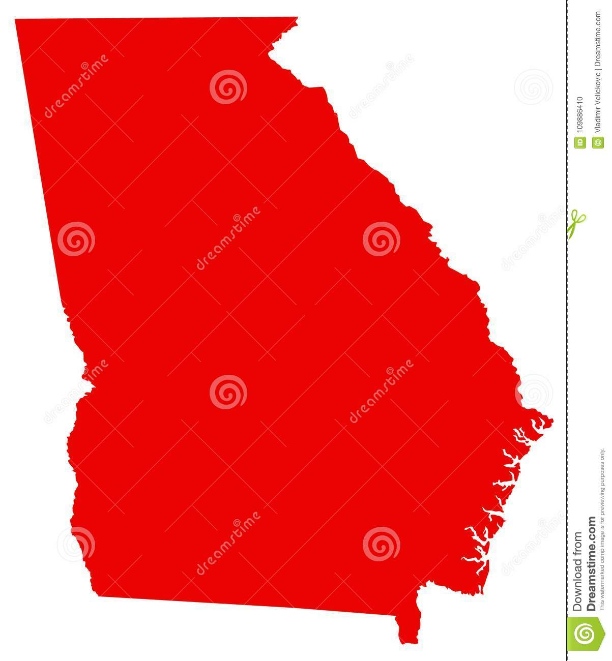 Georgia Map - State In The Southeastern United States Stock ...
