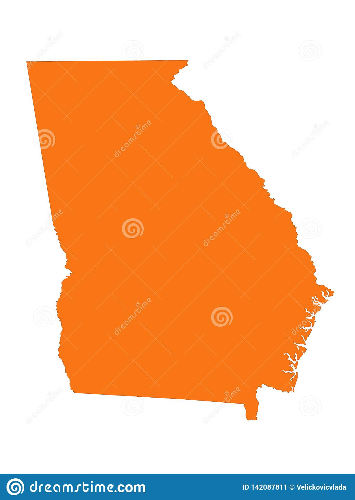 Georgia U. S. State Map - State In The Southeastern United States ...