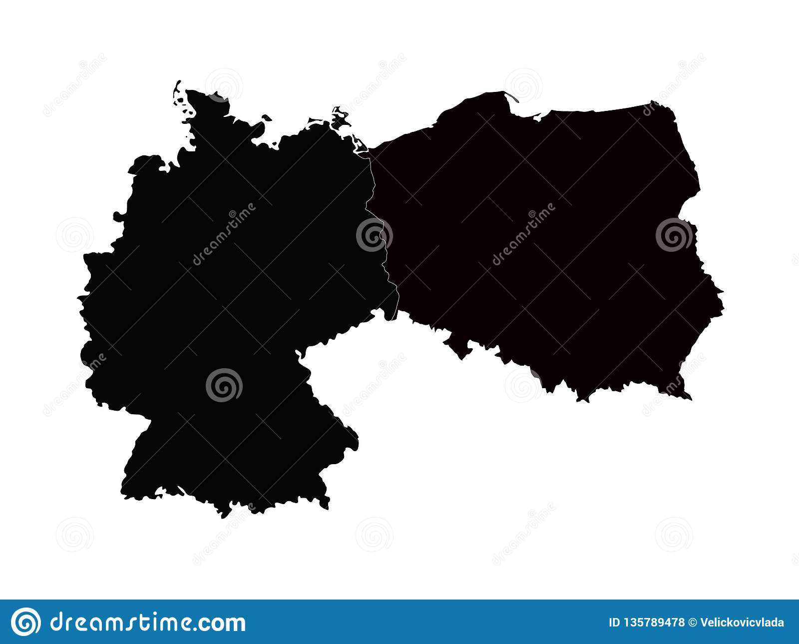 Germany And Poland Maps - Europe Countries Stock Vector ...
