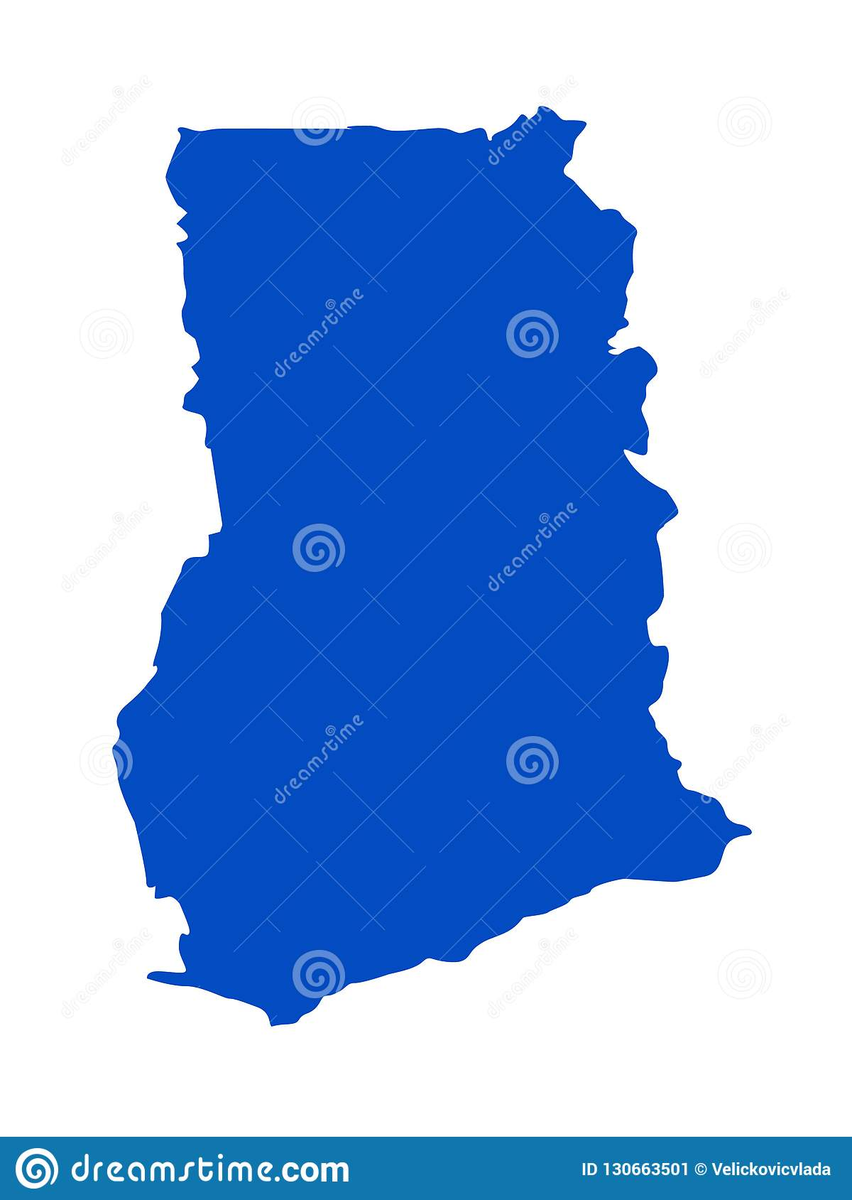 Picture of: Ghana Map Country In The West Africa Stock Vector Illustration Of Silhouette Topography 130663501