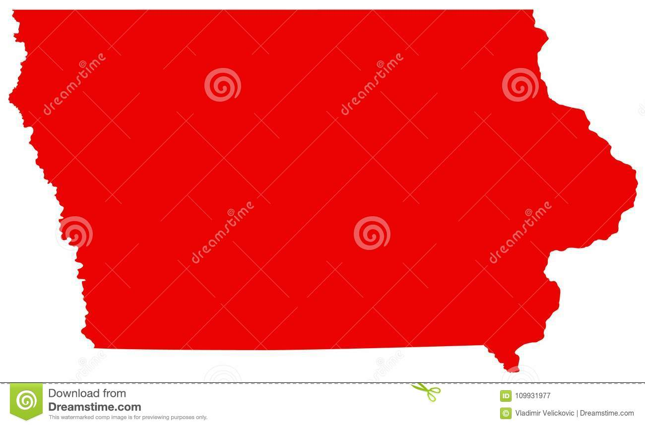 Iowa Map - State In The Midwestern Region Of The United ...