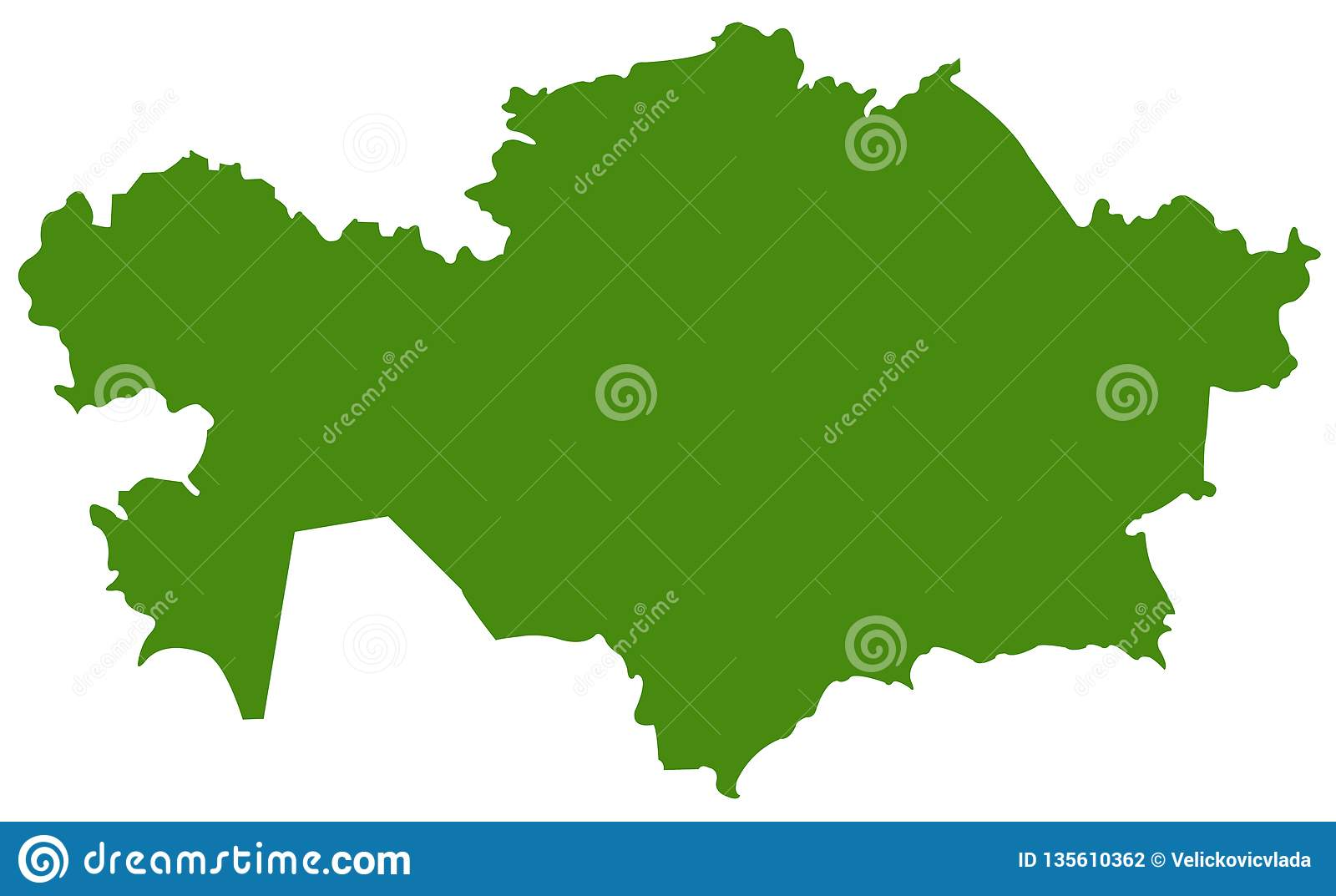Picture of: Kazakhstan Map Republic Of Kazakhstan Stock Vector Illustration Of Contour Kazakh 135610362