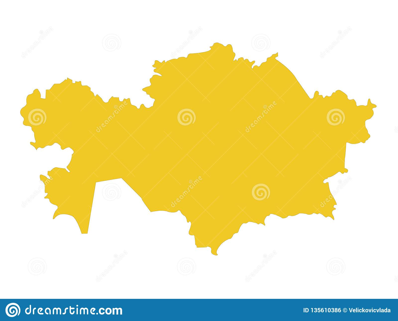 Kazakhstan Map Republic Of Kazakhstan Stock Vector Illustration