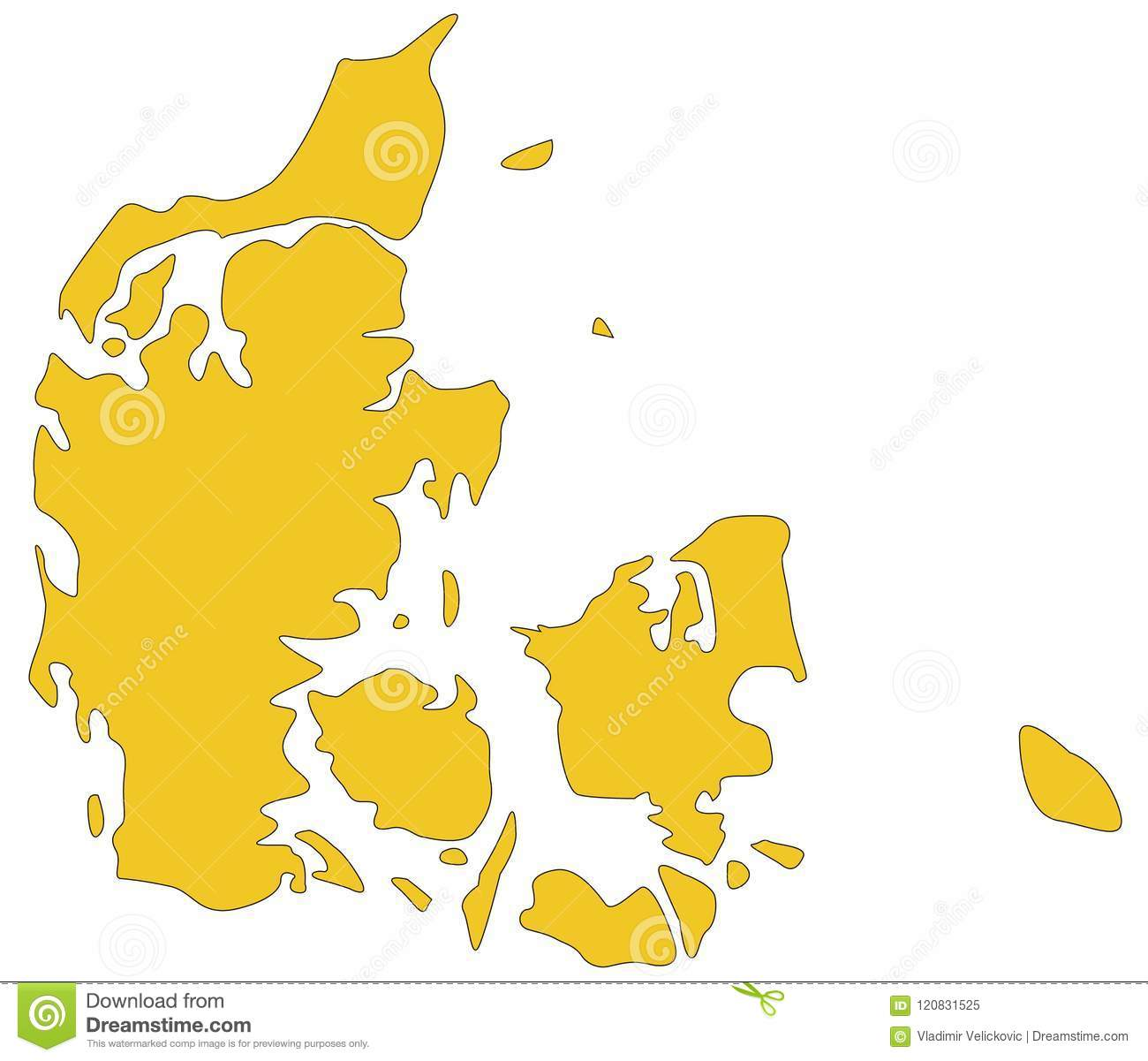 Nordic Europe Map.Denmark Map Nordic Country And A Sovereign State In Europe Stock