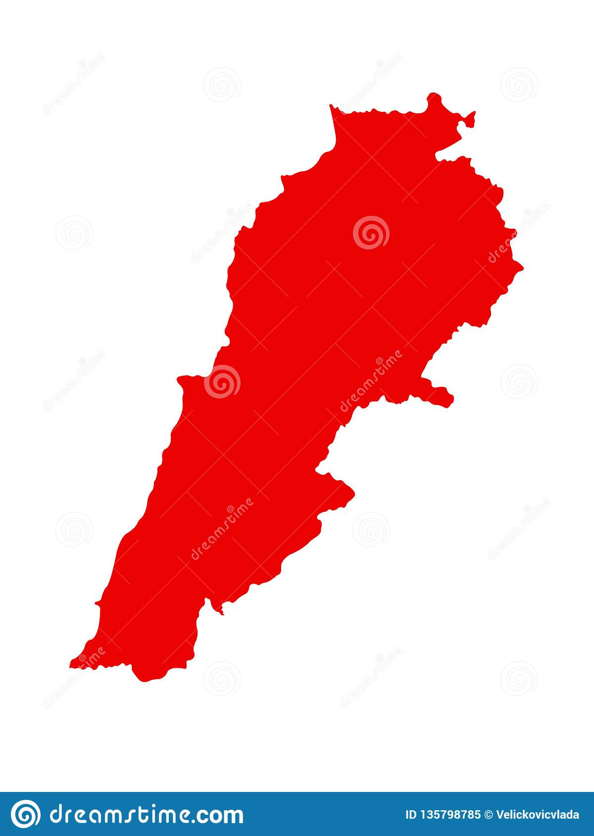 Lebanon Map Lebanese Republic Stock Vector Illustration