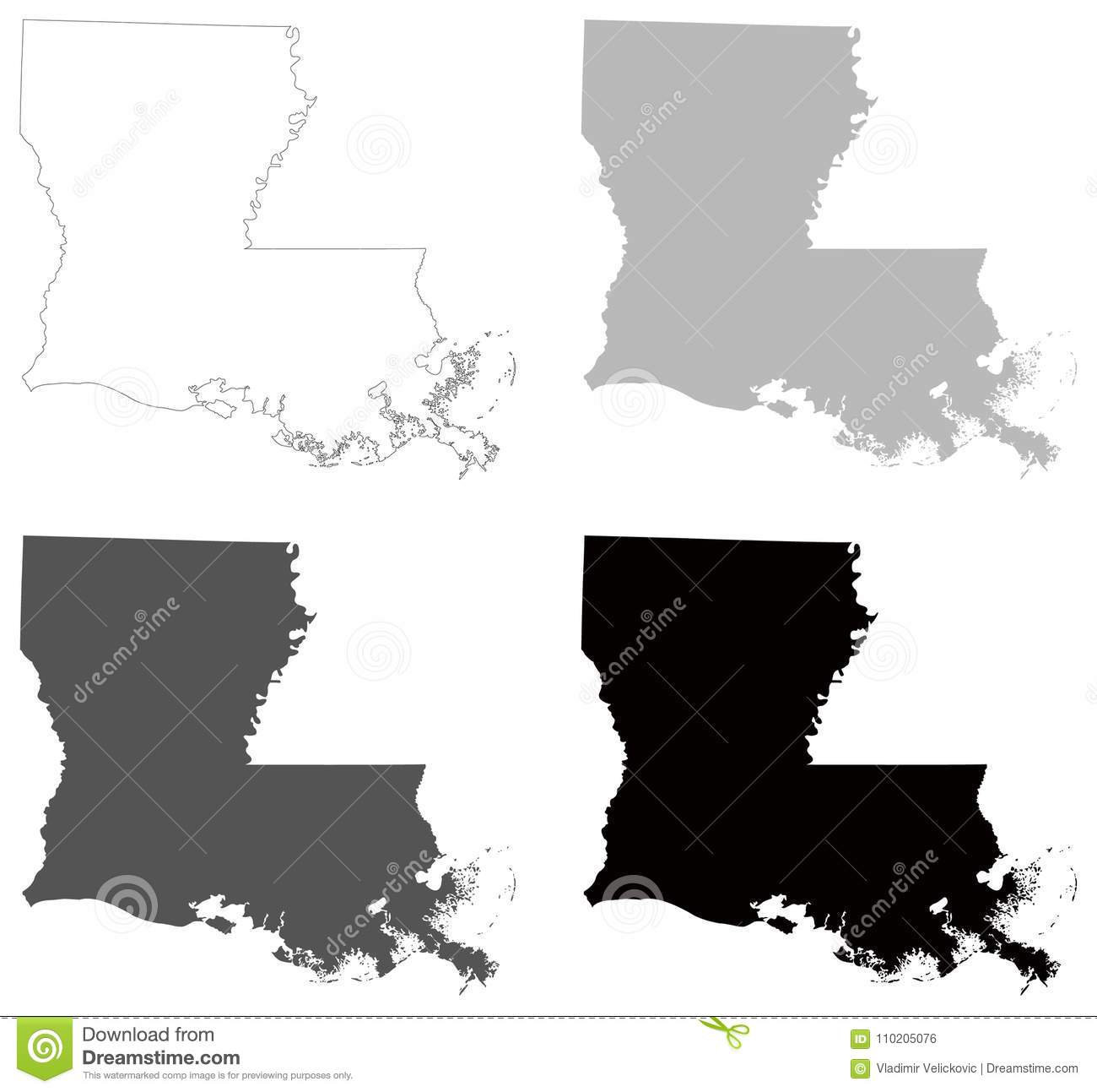 Louisiana Map - State In The Southeastern Region Of The ...