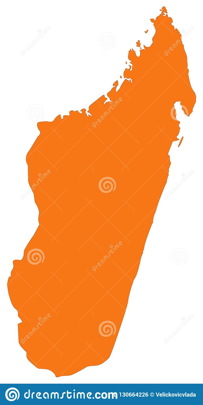 Madagascar Map - Island Country In The Indian Ocean Stock Vector ...