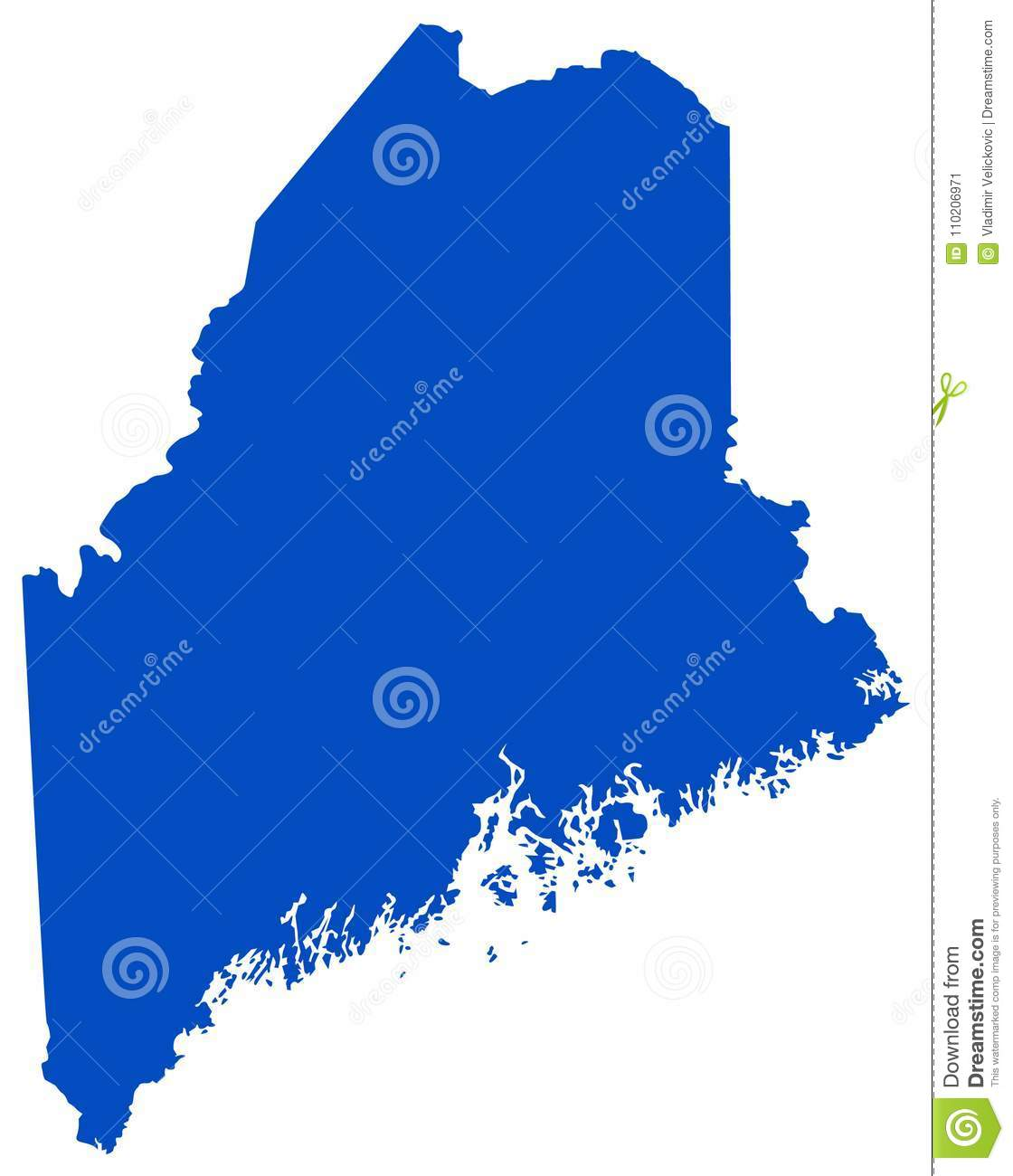 Maine Map - State In The New England Region Of The ...