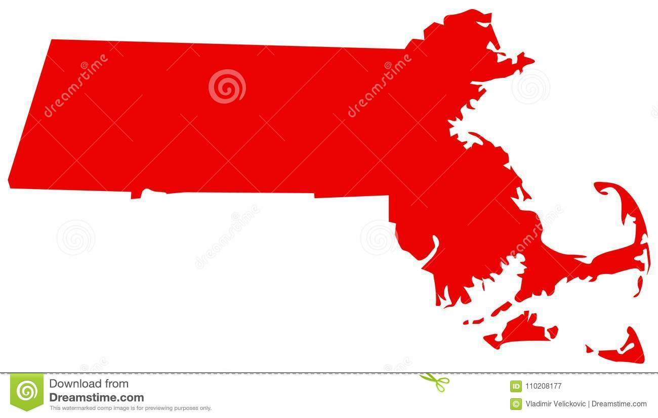 Massachusetts Map - State In The New England Region Of The ...