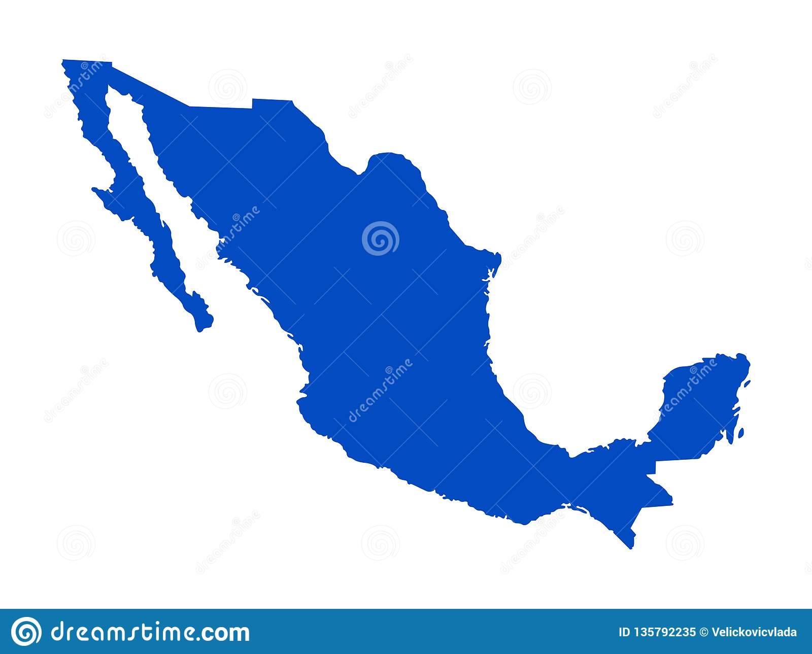 Mexico Map - United Mexican States Stock Vector - Illustration of ...