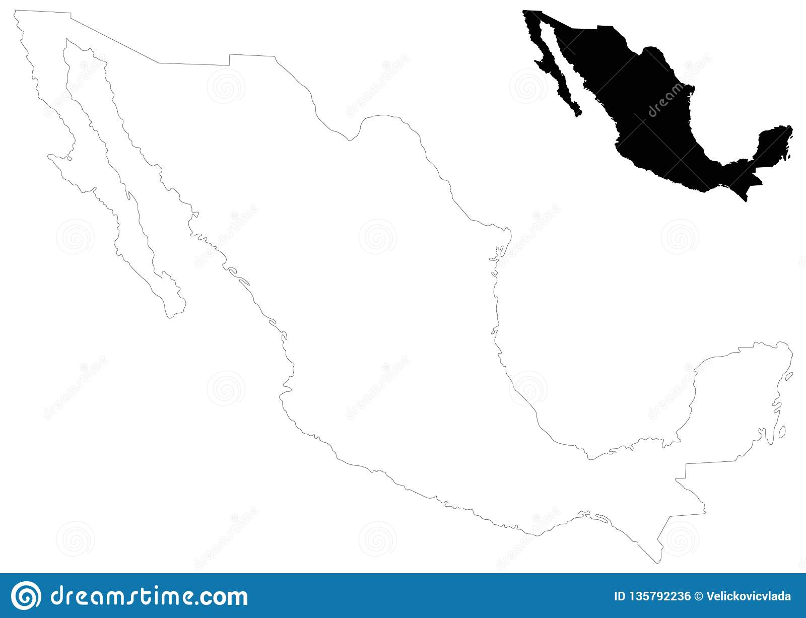 Mexico Map - United Mexican States Stock Vector ...