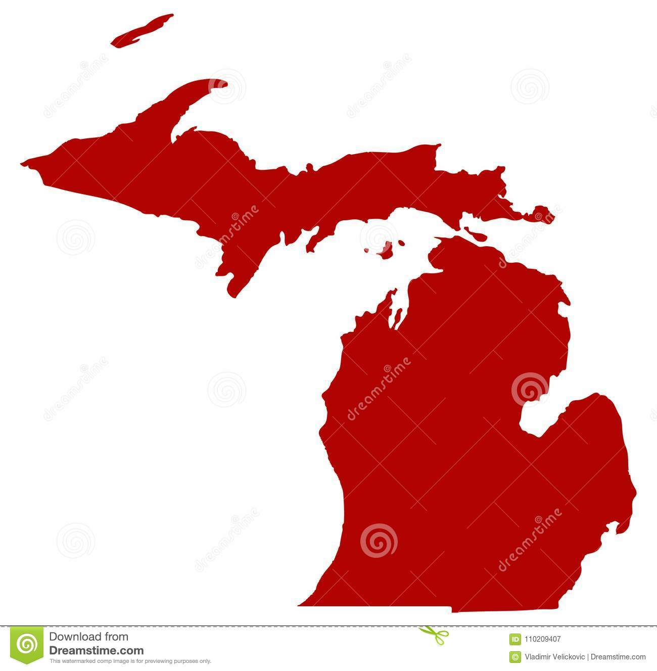 Michigan Map - State In The Great Lakes And Midwestern ...