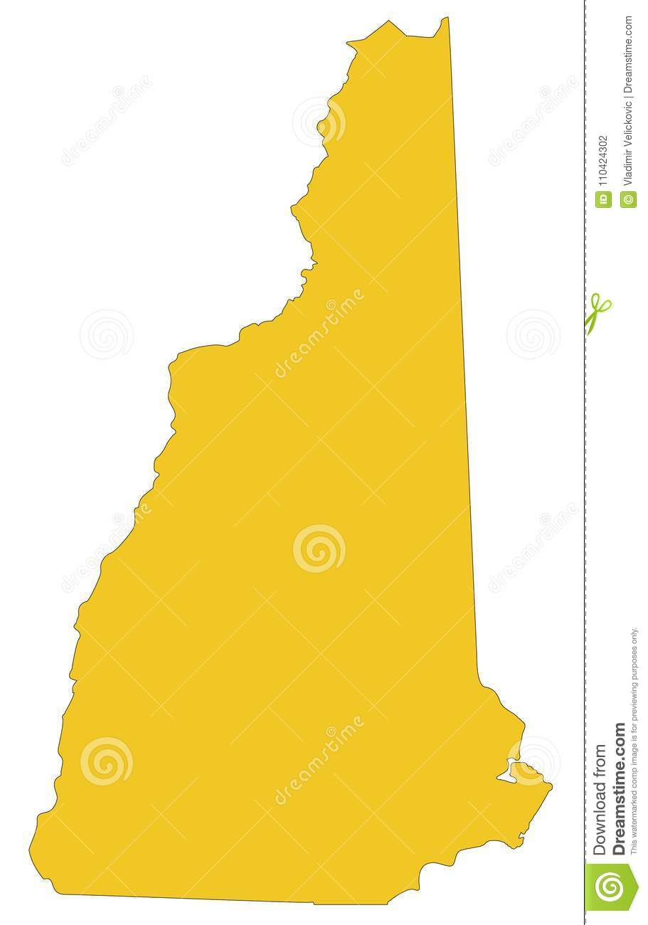 New Hampshire Map - State In The New England Region Of The ...