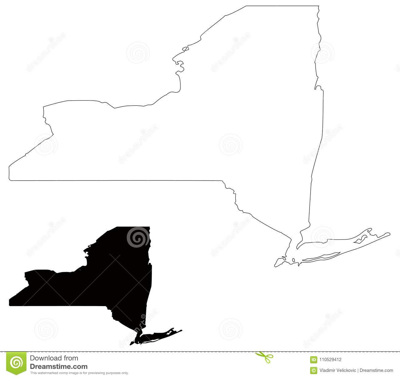 New York State Map - State In The Northeastern United States ...