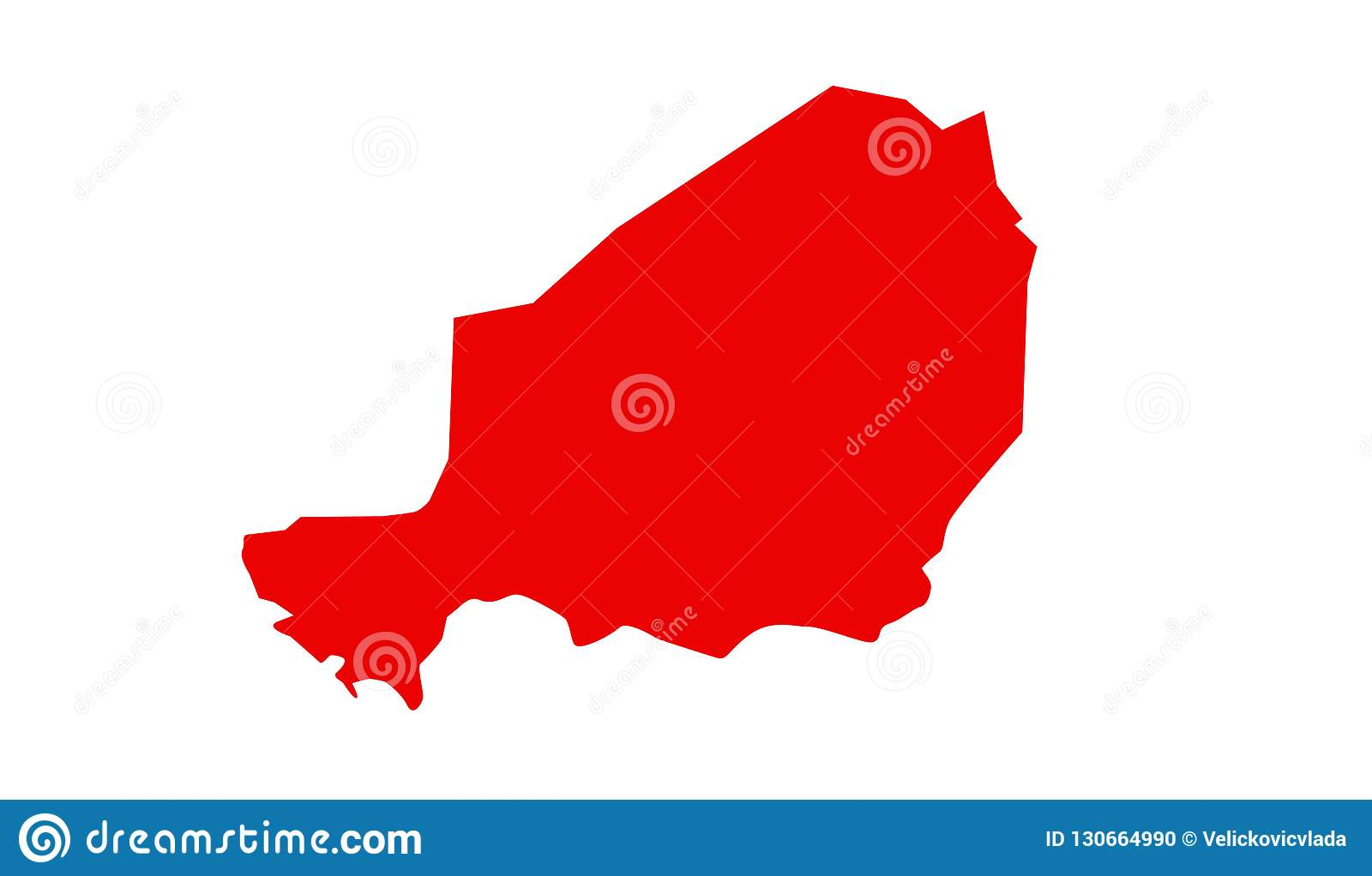 Niger Map - Country In West Africa Named After The Niger River Stock ...