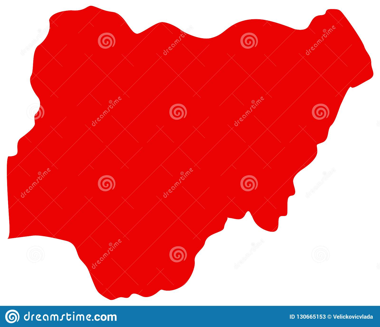 Nigeria Map - Country Between Central And West Africa Stock Vector ...