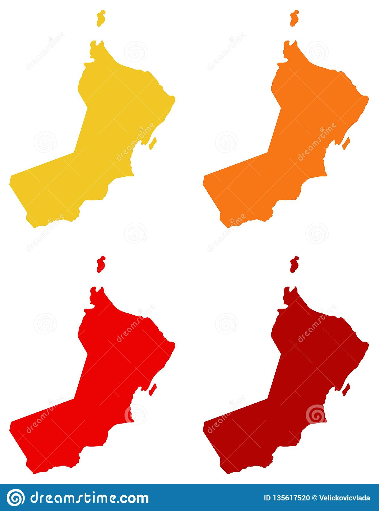 Oman Map - Sultanate Of Oman Stock Vector - Illustration of