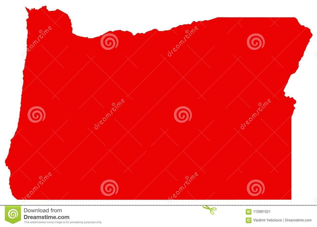 Oregon Map - State In The Pacific Northwest Region On The ...