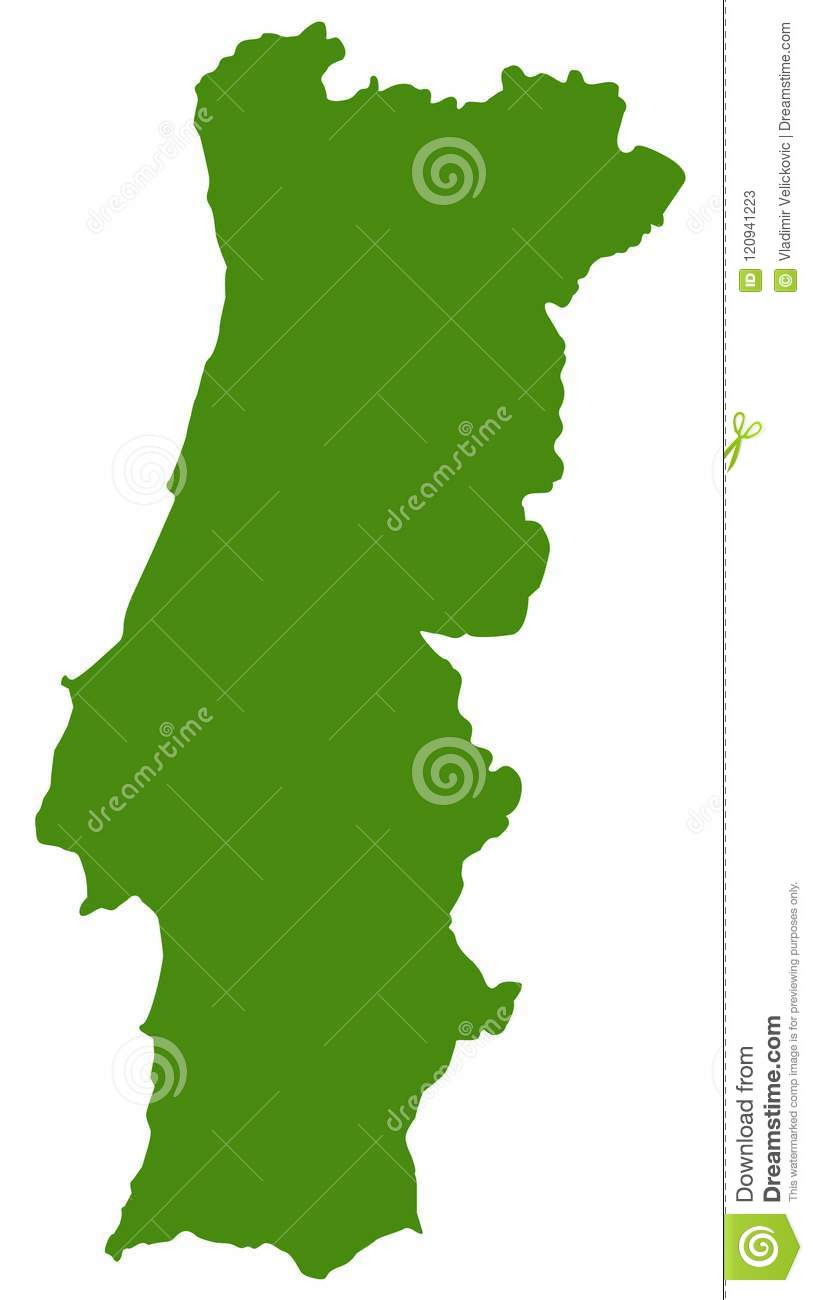 Portugal Map - Country On The Iberian Peninsula In Southwestern ...