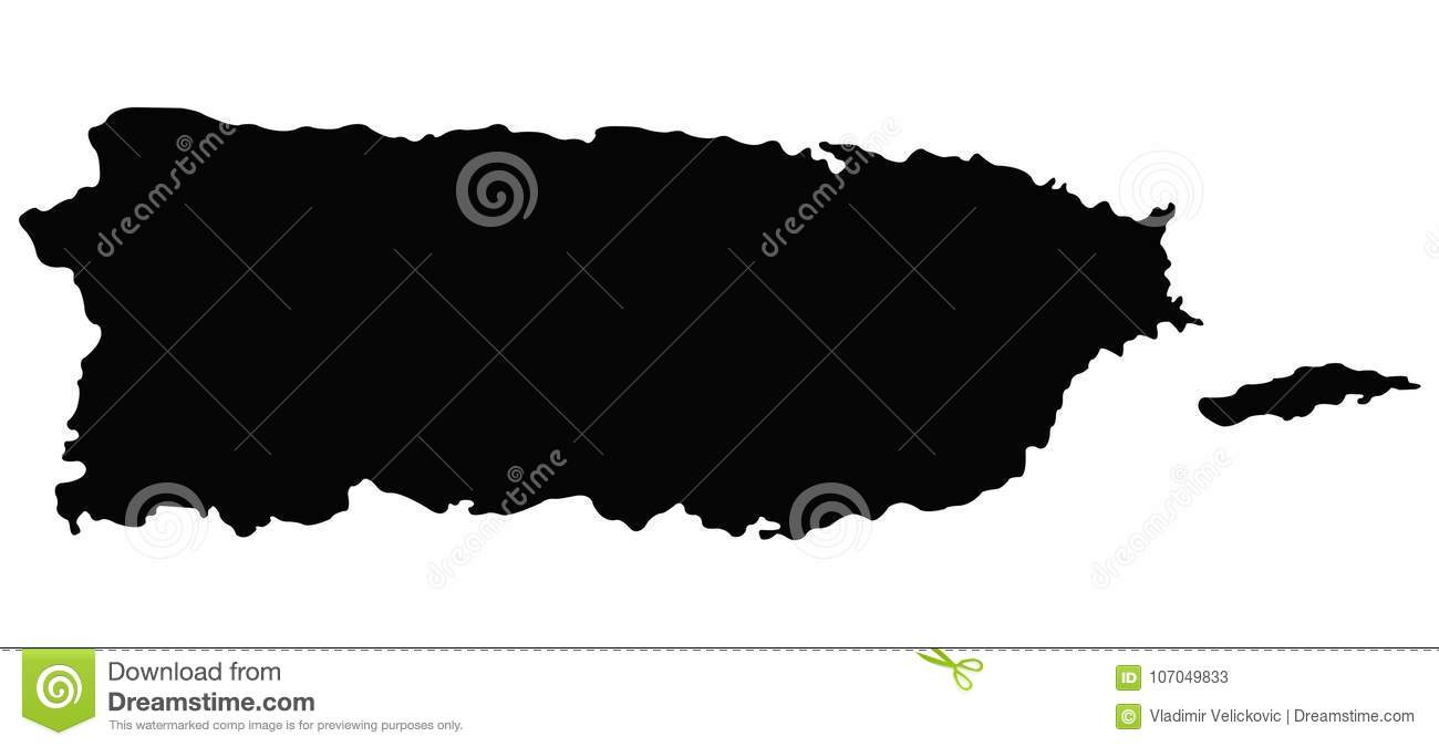 Puerto Rico Map - State In The United States Of America ...
