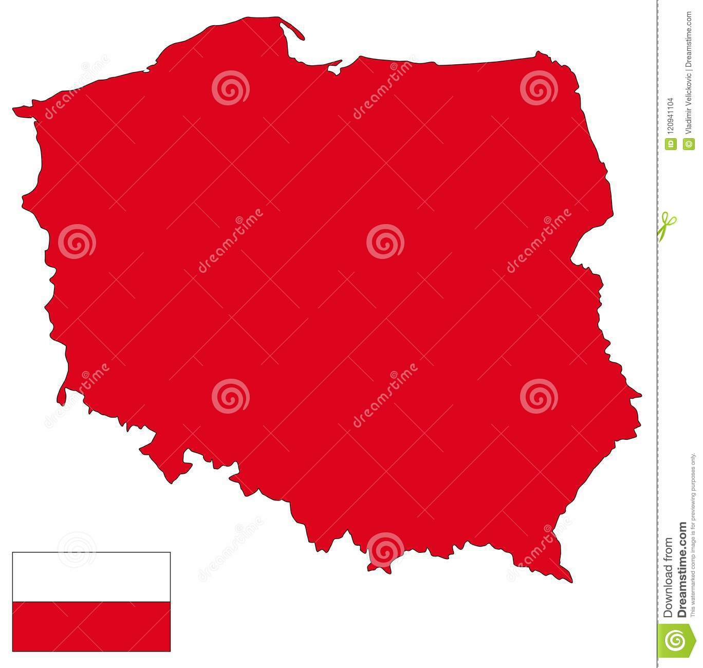 Poland Map And Flag - Country In Central Europe Stock Vector ...