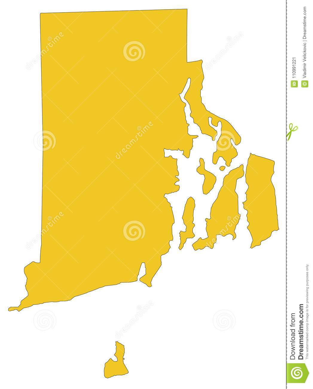 Rhode Island Map - State In The New England Region Of The ...