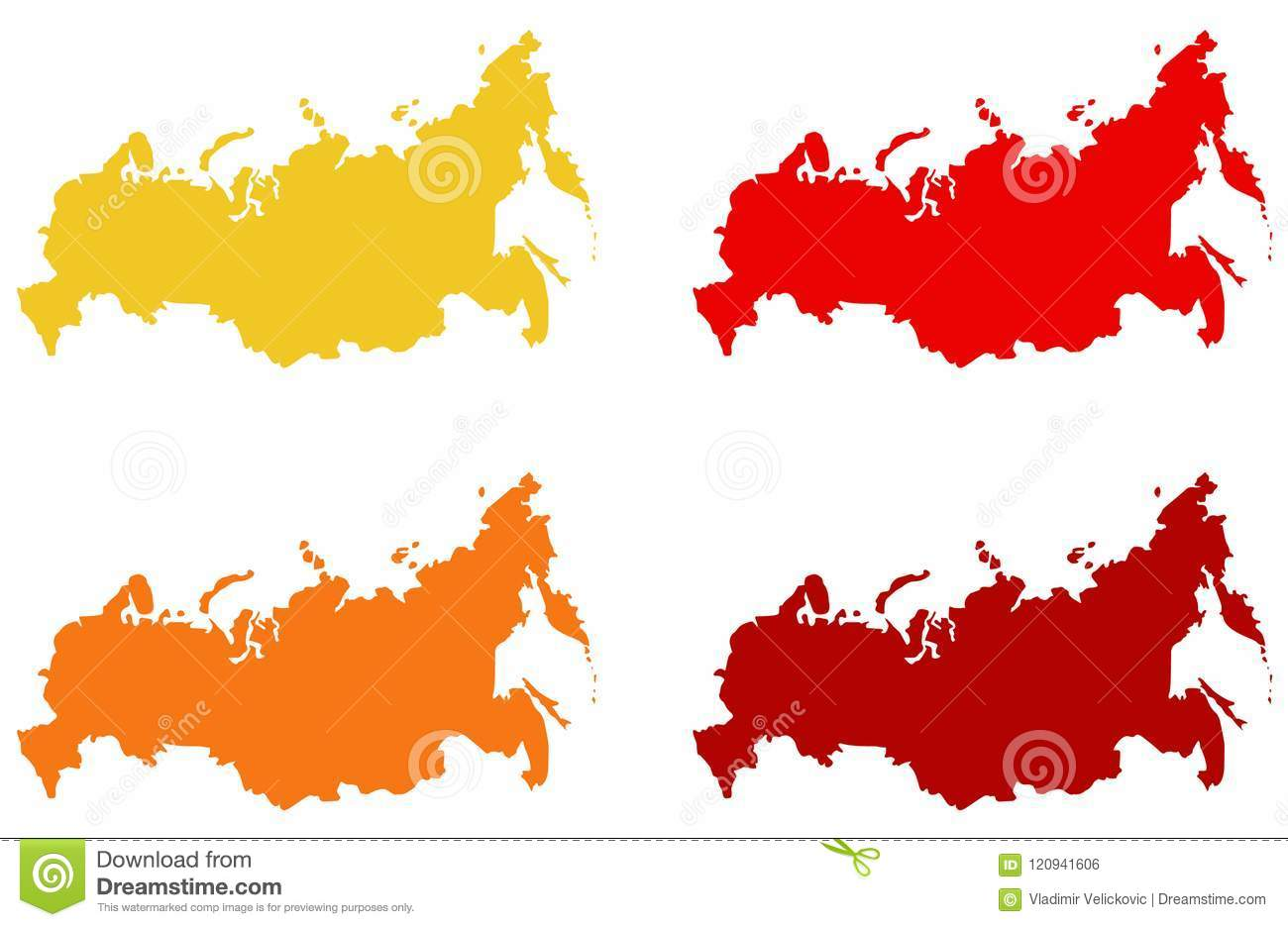 Russia Map - Largest Country In The World In Eurasia Stock Vector ...