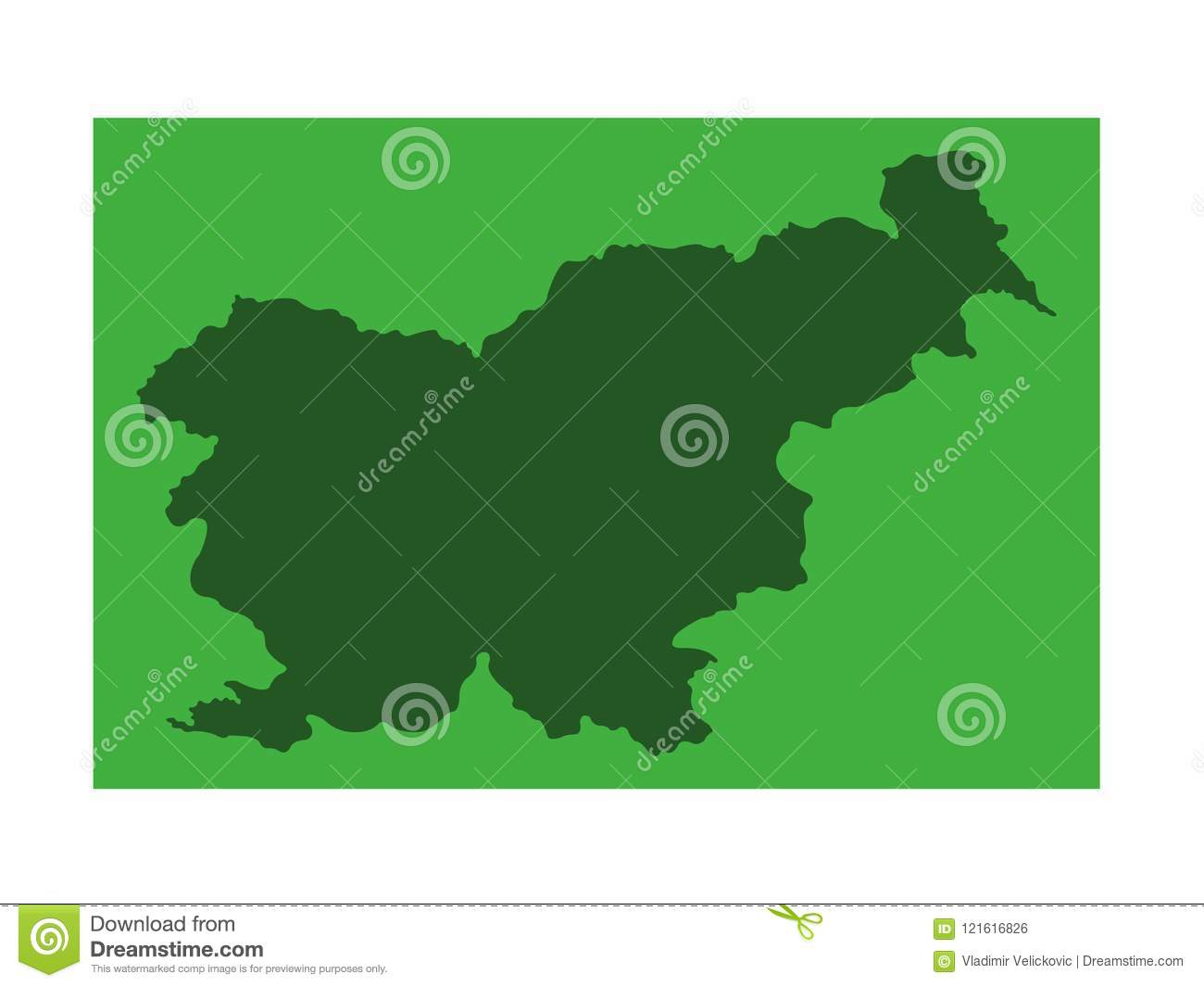 Slovenia Map - Country In Southern Central Europe Stock Vector ...