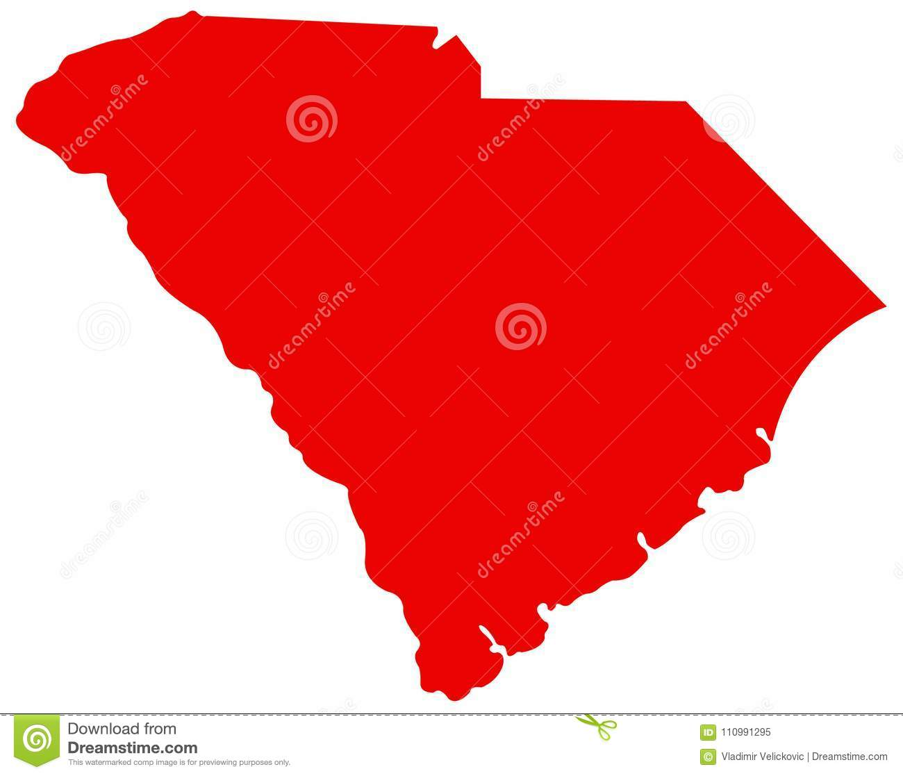 State South Carolina Map.South Carolina Map State In The Southeastern Region Of The United