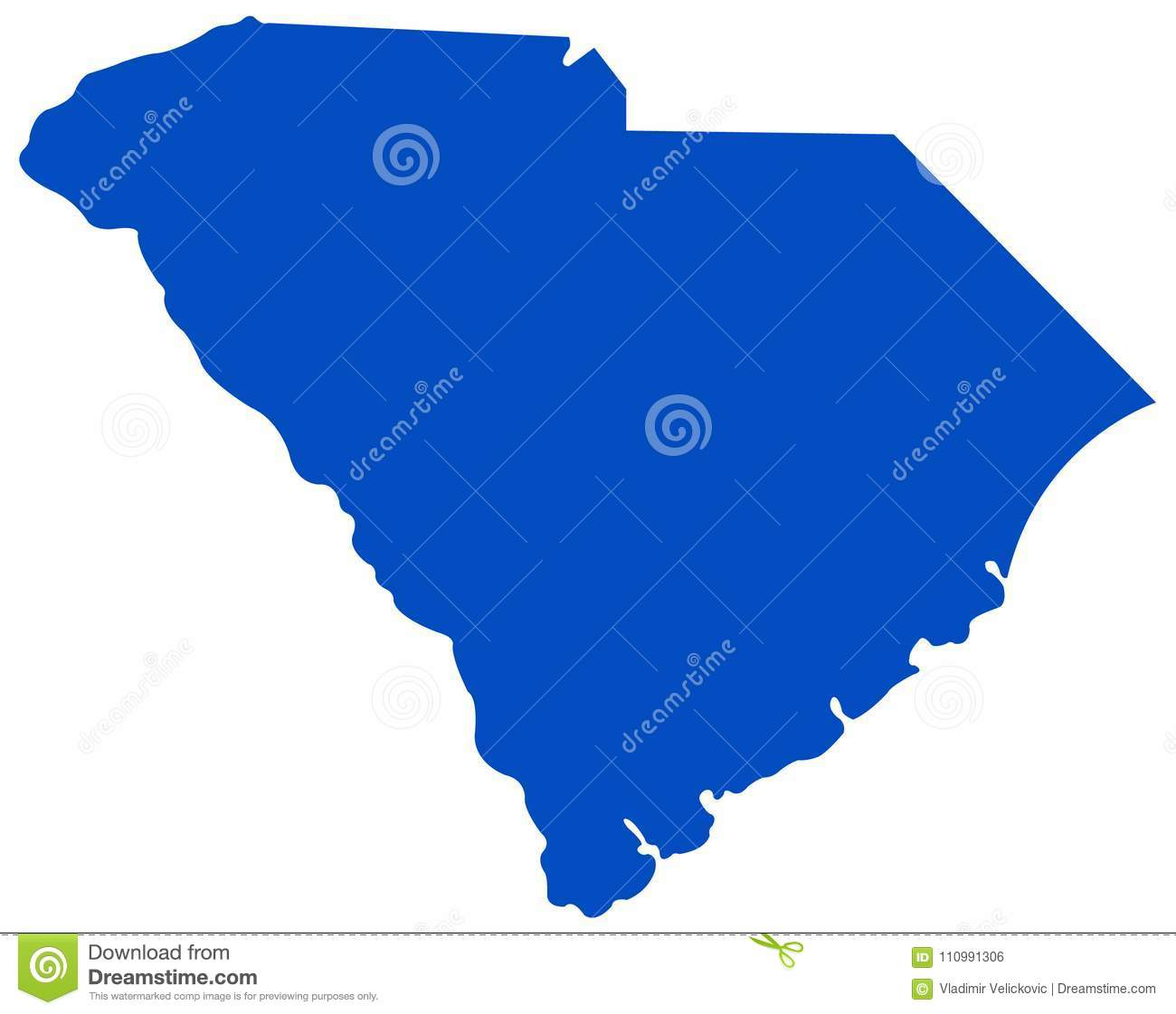 South Carolina Map State In The Southeastern Region Of The United
