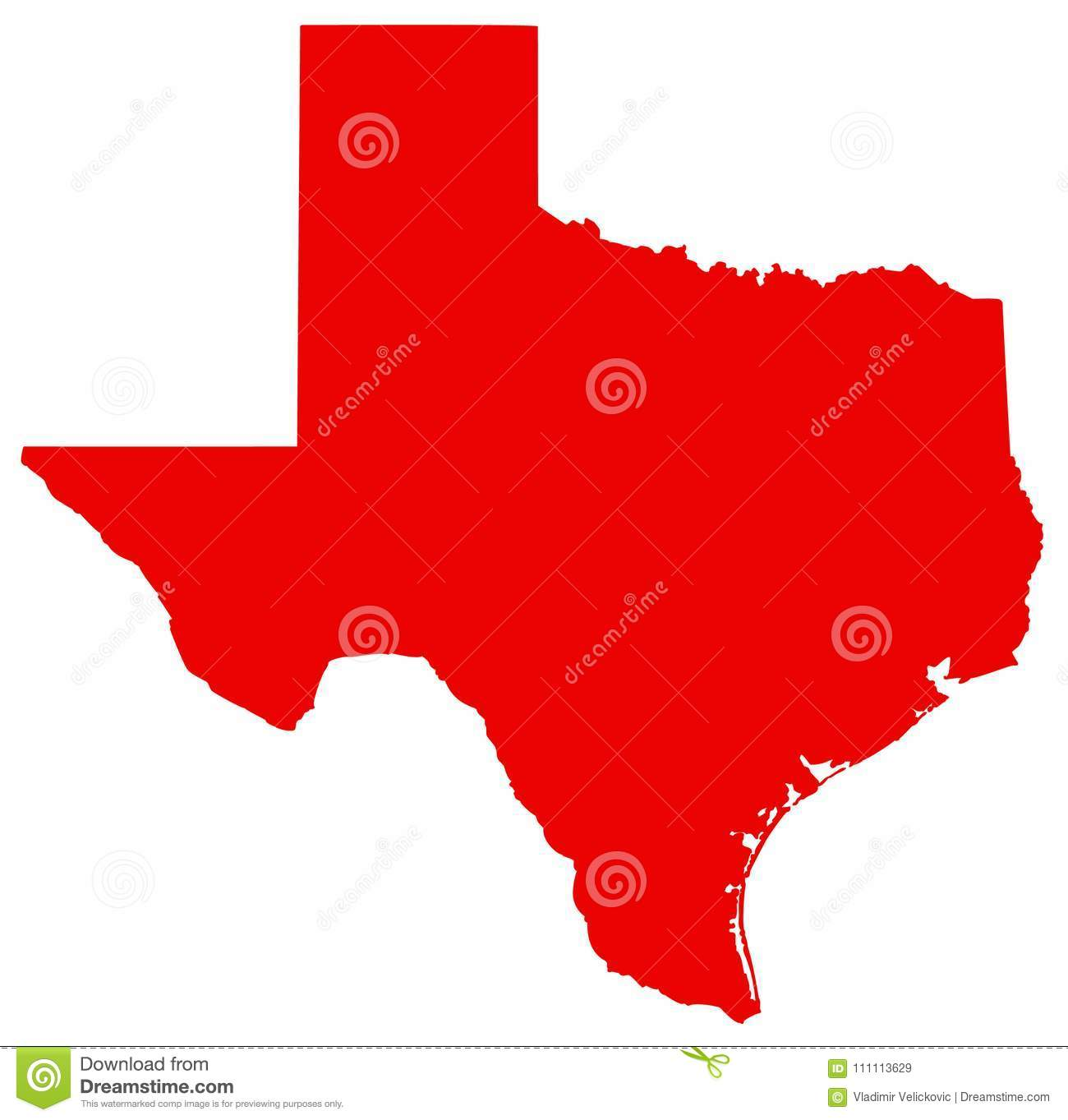 Texas Map - The Second Largest State In The United States Stock ...