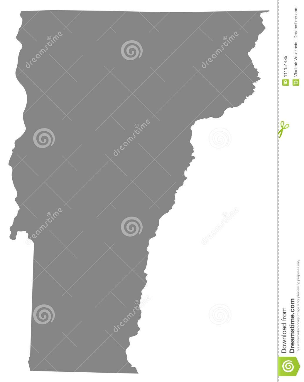Map Of America Vermont.Vermont Map State In The New England Region Of The Northeastern