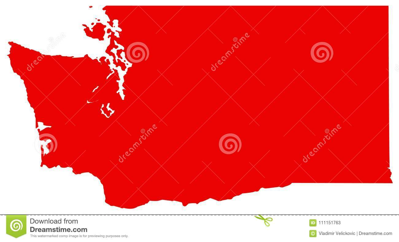 Washington State Map State In The Pacific Northwest Region Of The