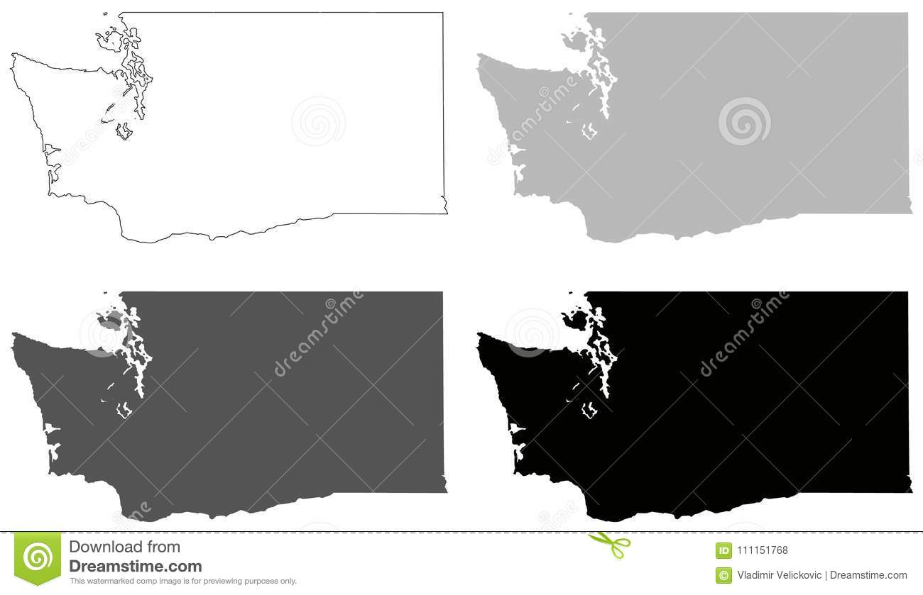 Washington State Map - State In The Pacific Northwest Region ...