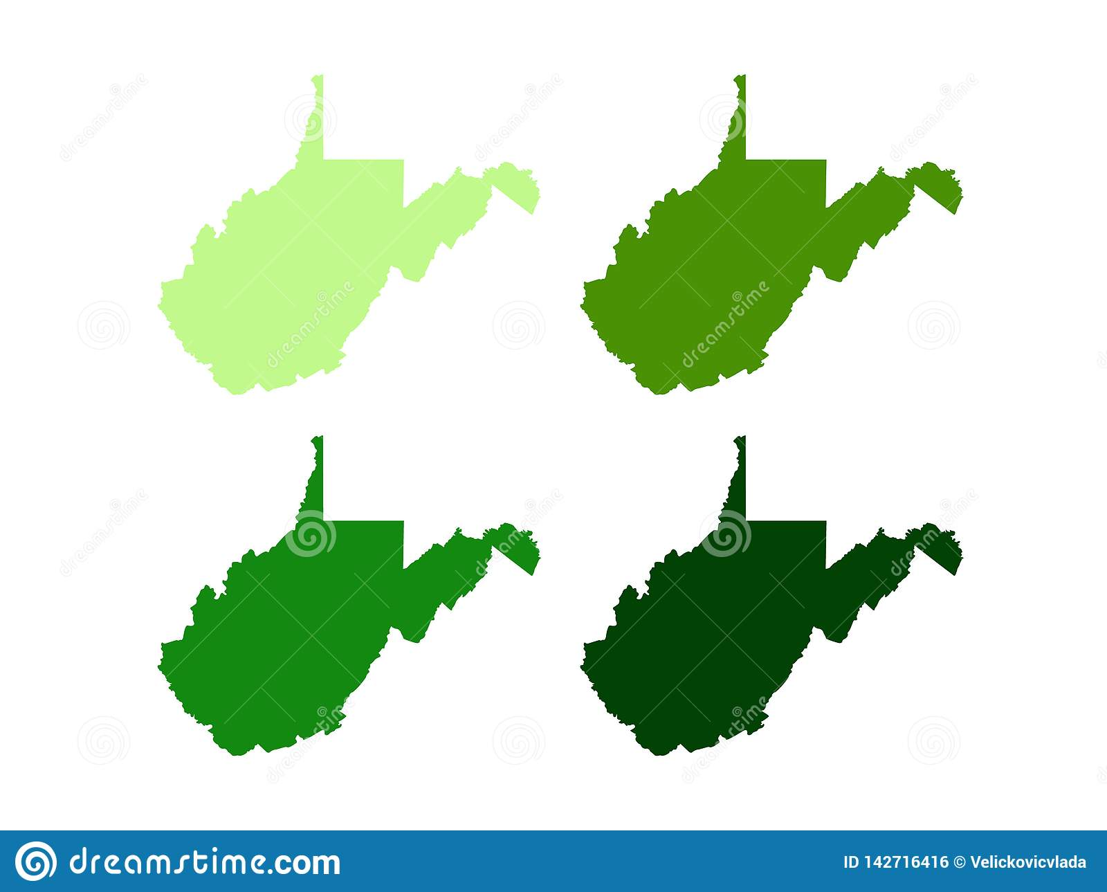 West Virginia Map - State Located In The Appalachian Region In The ...