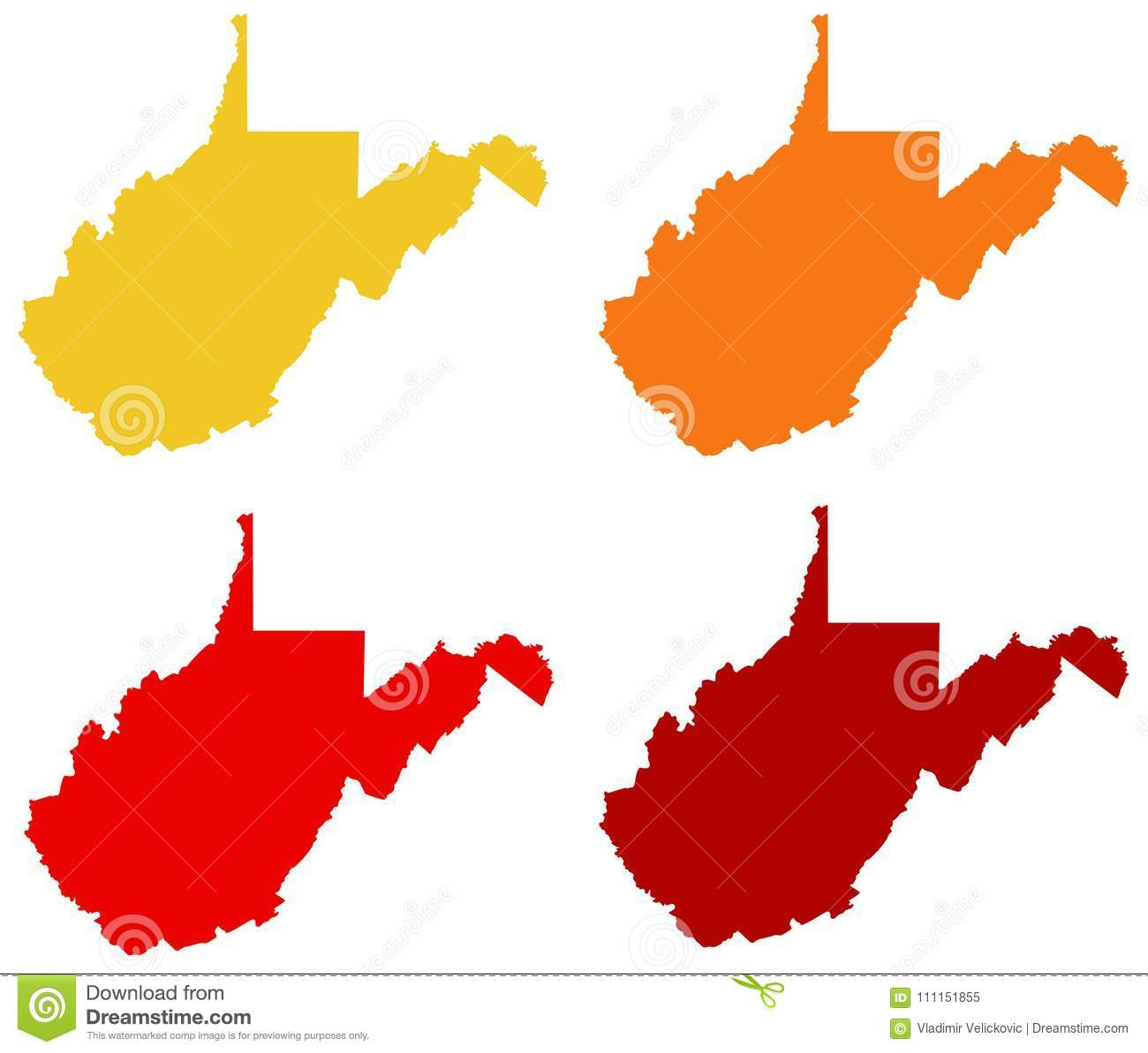 West Virginia Map - State In The Appalachian Region Of The Southern ...